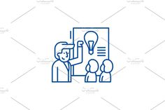 Vector Website, Report Design, Line Icon, Presentation, Concept, Illustration, Illustrations