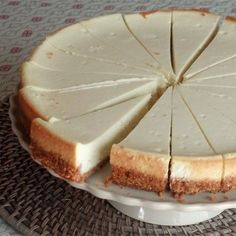 "Perfect Cheesecake Everytime | ""This will get you great reviews from friends. You also will not order cheesecake out again. If it cracks, garnish with fruit to hide the cracks."" #recipe #dessert"