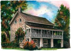 TGIF – Head out to the Caledon Inn for a great dinner. The inn was built in 1835 and settled on 25 acres of beautiful lush country landscaping. Country Landscaping, Newfoundland And Labrador, Canadian Artists, Custom Art, Artist Art, Pet Portraits, Toronto, Art Prints, Landscape