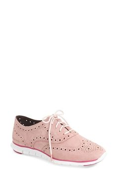 Cole Haan 'ZeroGrand' Perforated Wingtip (Women) (Nordstrom Exclusive) available at #Nordstrom