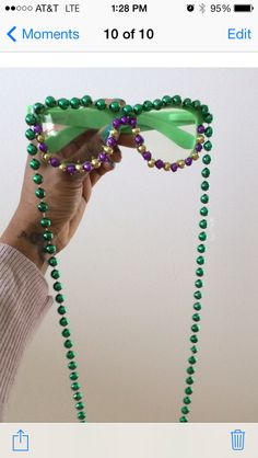 What to do with Extra Mardi Gras beads. Mardi Gras costume. My first Mardi Gras craft!