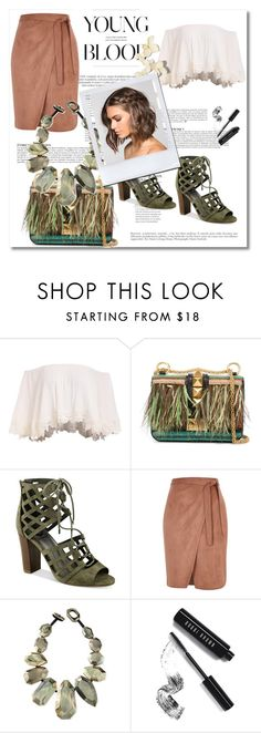 """Untitled #128"" by karla786 ❤ liked on Polyvore featuring Valentino, G by Guess, River Island, Viktoria Hayman, Anja, Bobbi Brown Cosmetics, under50 and skirtunder50"