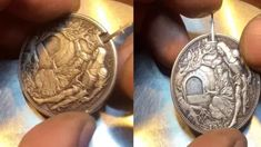 US$ 39.98 - Hand Carved Coins - m.sheinv.com Hobo Style, 70 Style, Coin Art, Old Money, Rare Coins, Coin Collecting, Cool Things To Buy, Stuff To Buy, Cool Tools
