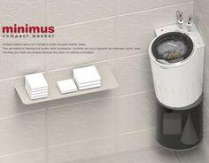 単身者にぴったりのサイズ&グッドデザイン!小さな小さな洗濯機『minimus』が可愛過ぎる♪