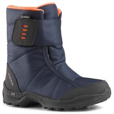89,90LEI - Trekking and Camping - Cizme SH100 X-WARM Copii - QUECHUA Warm Boots, Snow Boots, Pantalon Ski, Winter Hiking, Thermal Insulation, Your Shoes, Hiking Boots, High Top Sneakers, Navy Blue
