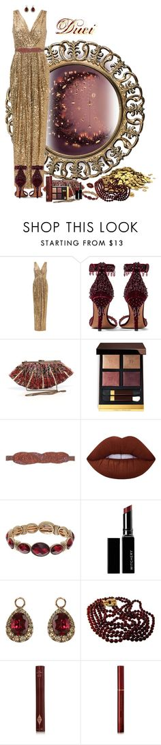 """All Hallow's Witchery Afoot"" by duci ❤ liked on Polyvore featuring Badgley Mischka, Givenchy, Forever 21, Tom Ford, Patrizia Pepe, Lime Crime, Napier, Witchery, Annoushka and Nolan Miller"