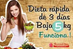 Dieta rapida de 3 dias para bajar 5 kilos