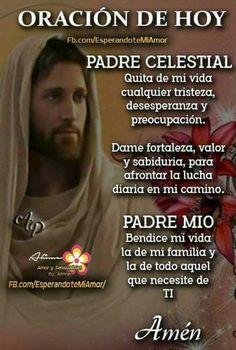 Mom Prayers, Bible Prayers, Morning Prayers, Spanish Inspirational Quotes, Inspirational Prayers, Spiritual Prayers, Prayers For Healing, Catholic Prayers In Spanish, Night Prayer