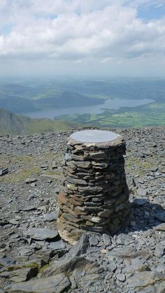 The top of Skiddaw Mountain Cumbria