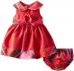 Bonnie-Baby-Baby-Girls-Newborn-Shantung-with-Plaid-Trim-Dress