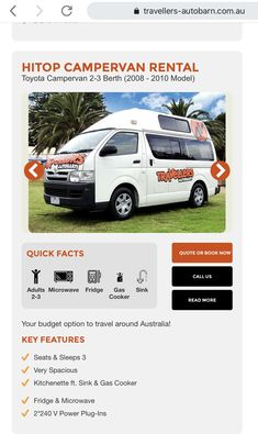 Campervan Rental, Fact Quotes, Travel Around, Toyota, Budgeting, Road Trip, Australia, Camper Rental, Road Trips