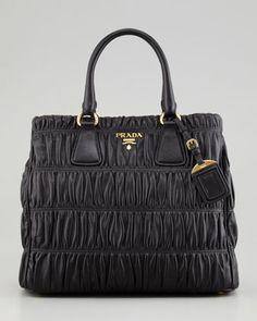 e3ed069d0de0 Napa Gaufre Large Zip-Top Tote Bag by Prada at Neiman Marcus.  2295 Mon
