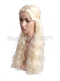New Movie Game of of Thrones Daenerys Targaryen Long Curly Wavy Synthetic Hair Wig Cosplay Wig  //Price: $US $18.00 & FREE Shipping //     #gameofthrones #gameofthronestour #gameofthronesfamily  #starks #got #agot #asoiaf