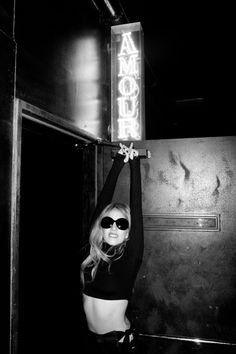 Gaga in front of Amour.