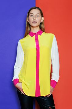 CHARLEY in Canary, Off-White & Fuchsia