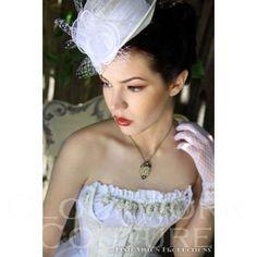 Clockwork Couture | Steampunk White Wedding Corset + Bustle Skirt 6 piece set