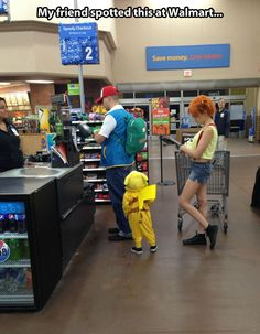 You can find everything at Walmart…