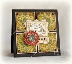 so easy ! Squares and Label, #Spellbinders