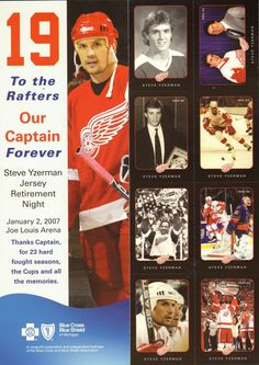 Stephen Gregory Yzerman (born May Cranbrook, Canada) is a retired… Ice Hockey Players, Hockey Teams, Hockey Stuff, Detroit Vs Everybody, Joe Louis Arena, Steve Yzerman, Hockey Hall Of Fame, Red Wings Hockey, Detroit Sports