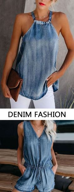 Denim Fashion Outifts 2019 Denim fashion clothes for women fashion casual style and comfortable material you will love it tops jumpsuits and coats you can options. The post Denim Fashion Outifts 2019 appeared first on Denim Diy. Denim Fashion, Fashion Outfits, Womens Fashion, Fashion Trends, Fashion Clothes, Fashion Fashion, Fashion Jewelry, Denim Outfits, Fall Outfits