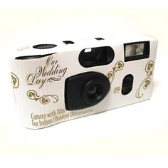 Gold Bells Wedding Disposable Camera (Set of 4) | Nuptial Knick Knacks      27 EXP. FLASH CAMERAS LOADED WITH AGFA 400 SPEED COLOR FILM. PERFECT FOR INDOOR AND OUTDOOR USE. SIMPLY USE YOUR CAMERAS AND HAVE ANY PHOTO PROCESSOR DEVELOP THE FILM. EACH CAMERA IS WRAPPED INDIVIDUALLY AND COMES WITH IT'S OWN TABLE TENT INSTRUCTION CARD.