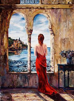 Serene In Red - Karen Stene - Artist
