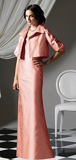 Long Dress, Shawl collar and sleeves | Mother of the bride or ...