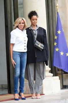Brigitte Macron et Rihanna