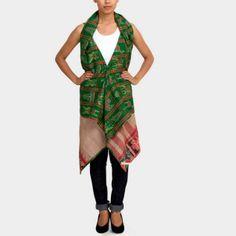 House of Wandering Silk's upcycled vintage sari shrugs