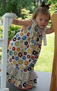 pillowcase dress tutorial with ruffles