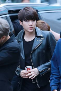 does his phone case say Suga i'm so upset