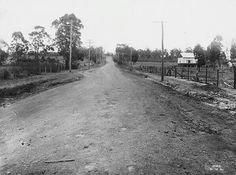 Blacktown Road before construction 21 October State Records of NSW. The Old Days, South Wales, Back In The Day, Geography, Windsor, Genealogy, Old Photos, Fresh Water, Liverpool