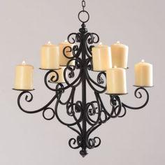 Black Scrolled 8-Candle Chandelier | Kirkland's