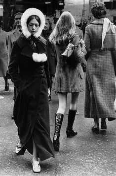 London, the sixties, an era of contrast... Minus 20, mini skirts under a maxi coat....