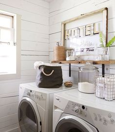 shabby chic laundry