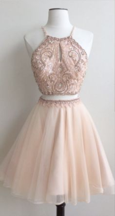 Hot Sale Dazzling Cheap, Two Pieces, Short Two Pieces Prom Dresses 2018 Homecoming Dress Cheap Prom Dresses Prom Dresses Short Homecoming Dresses 2018 2 Piece Homecoming Dresses, Cute Prom Dresses, Dresses Short, Prom Dresses 2018, Pretty Dresses, Sexy Dresses, Evening Dresses, Fashion Dresses, Formal Dresses