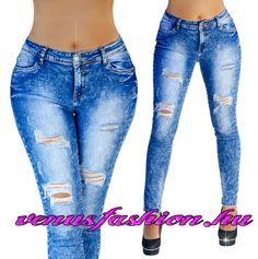 Divatos női szaggatott farmer nadrág XS S M L XL méretekben - Venus fashion női  ruha webáruház Szaggatott bf093da2e4