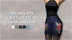 "our-dazed-sims: "" DENIM DAYS SKIRT! Hello, first of all, thank you all so much for all the continuous love and support, I wouldn't be where I am without you, you mean the world to me. I can't believe there are 650 of you lovely humans following me,..."