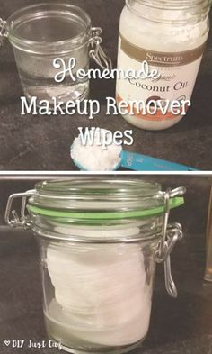 Homemade makeup remover wipes save you a lot of money and are also made with great products like coconut oil and baby shampoo. @diyjustcuz
