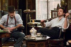 "film Shelock Holmes: Watson to Holmes ""Get that out of my face"", ""It's not in your face, it's in my hand"", ""Then get what is in your hand, out of my face!""."