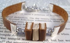 Miniature Book Bracelet The Stacks Stack of Three Mini Book Bracelet by JanDaJewelry, $40.00