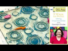 3 Ways to Take Your Prints with the Impressable Plate! - YouTube Gel Press, Gelli Arts, Gelli Printing, Fabric Paper, Mark Making, Art And Architecture, Art Techniques, Diy Wall, Craft Gifts
