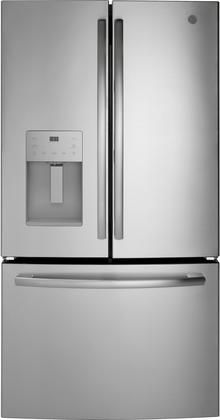 Gfe26jsmss 36 French Door Refrigerator With 25 6 Cu Ft Capacity