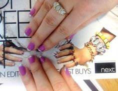 Nails inspired by the ELLE High Street supplement