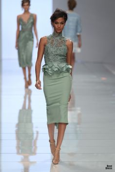 I could see Mrs.Obama wearing this minty expression by Ermanno Scervino.