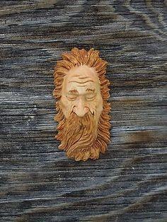 Original Sleepy Wood Spirit Ooak Hobbit Sorcerer Wizard Carving Scott Longpre