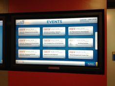 Ryerson University touch screen system