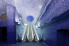 uma das mais belas estações do metrô do mundo  Napoles - Itália
