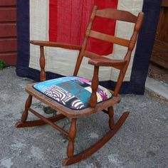 Rocking Chair Patchwork now featured on Fab.