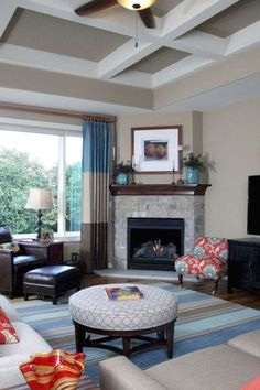 Fireplace Furniture, Living Room Furniture, Living Room Decor, Dining Room, Small Room Design, Family Room Design, Fireplace Design, Fireplace Ideas, Corner Fireplaces
